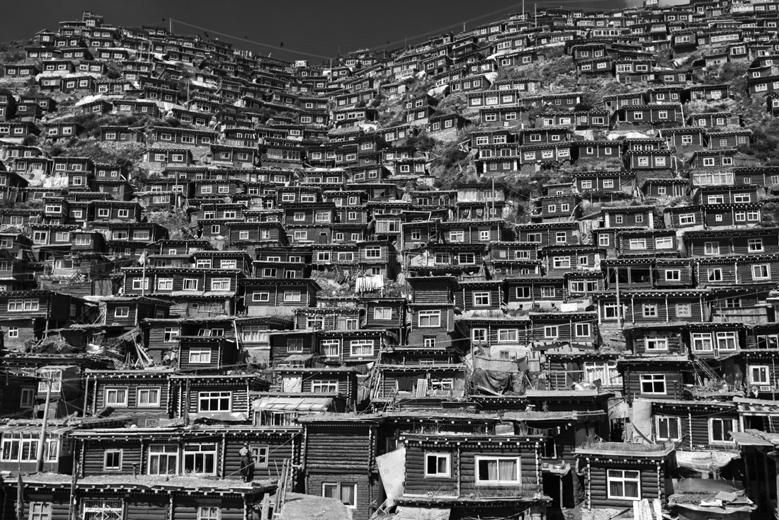 Boxes on the hillside