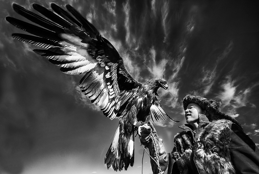 Kazhak eagle hunter golden eagle festival