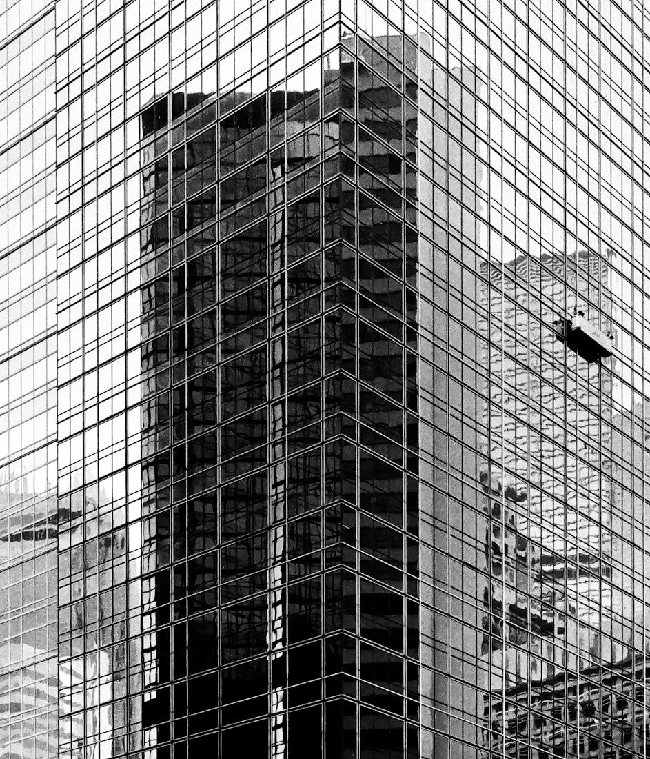 Reflection of skyscraper