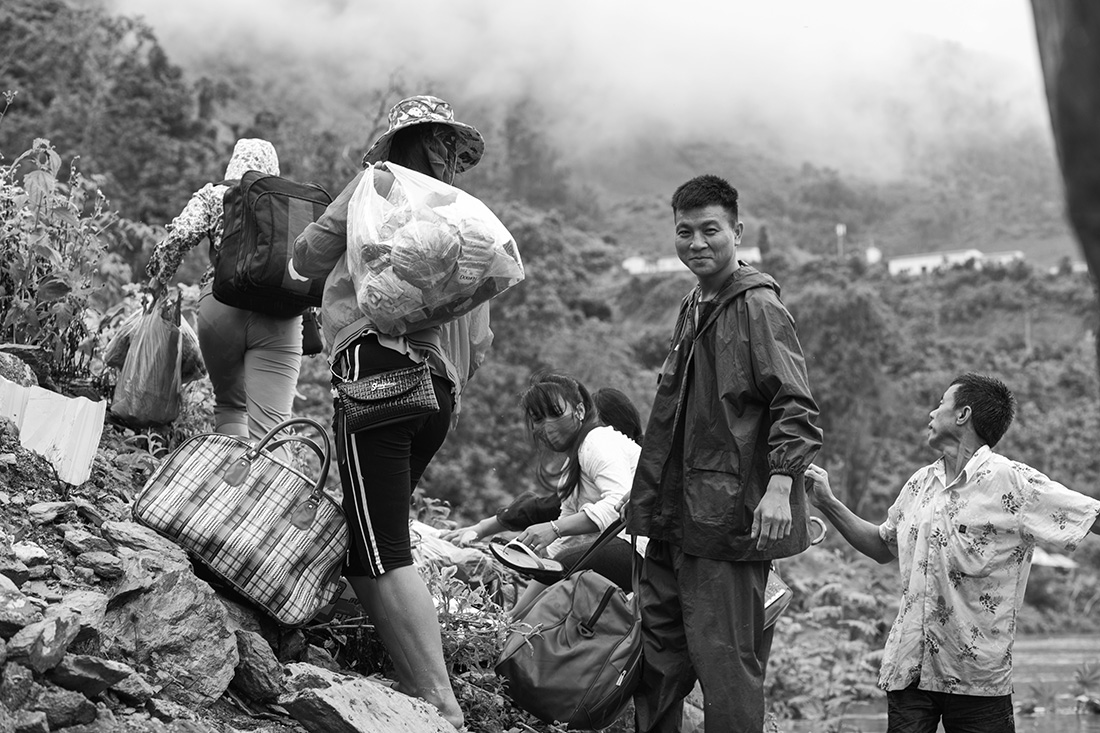 Workers. Nam Ou River, Laos