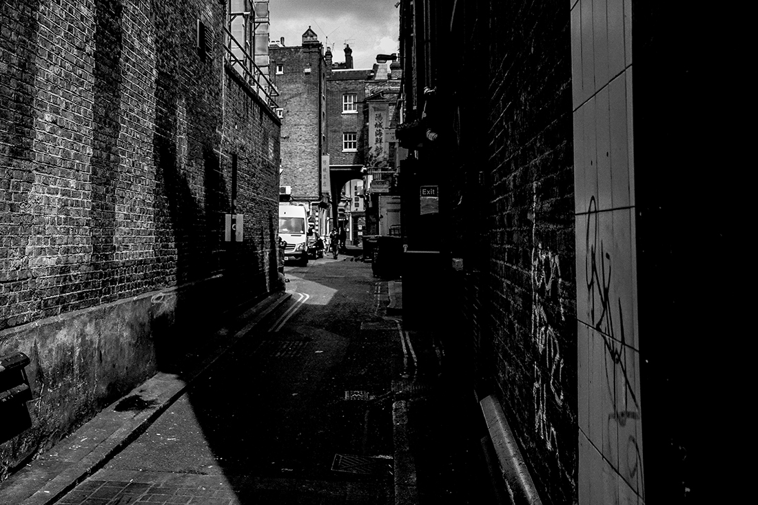 I was born by a back alley.