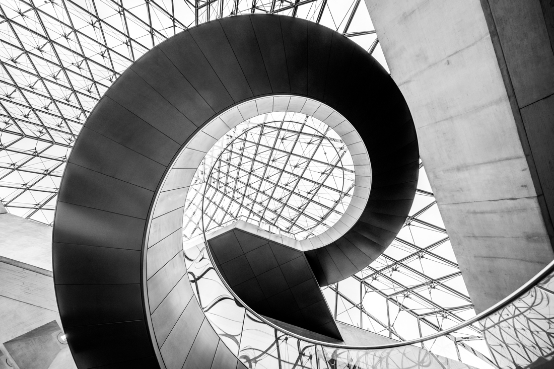 The Louvre's spiral staircase