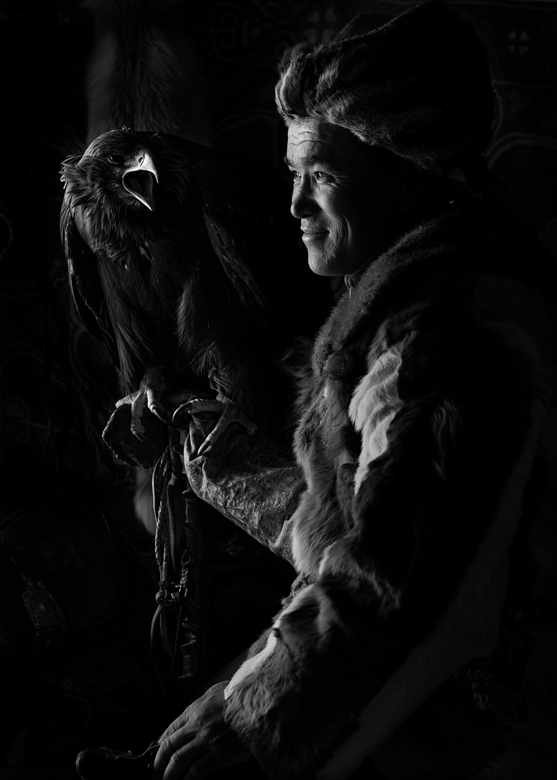 Portrait of A Eagle Hunter Family