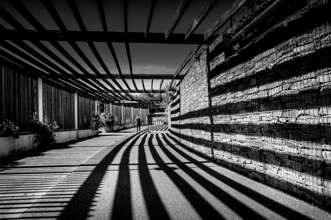Tunnel of light and shadow