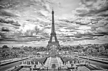 Paris Under Dramatic Skies