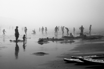 When the Fog coming on the Beach