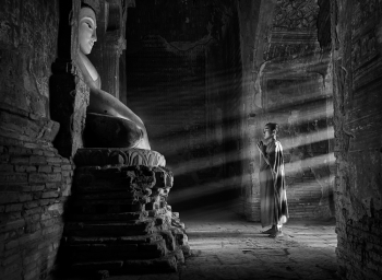 In a Temple in Bagan