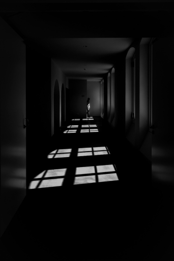Man at the end of the corridor
