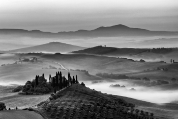 The Day Awakes In Tuscany