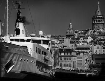 Istanbul Ferry and City
