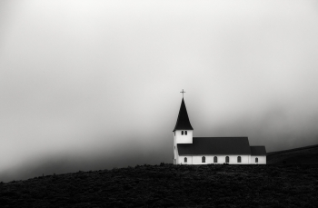 Vik Church in the mist | Iceland