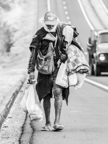 Homeless looking for the way