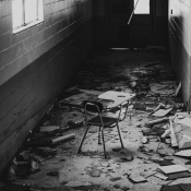 Inside the abandoned High School in Williston,  Florida, USA