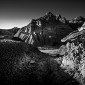 Hoodoos and other hidden treasures in the badlands of the US-SouthWest